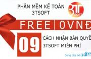 9 cách sở hữu miễn phí bản quyền phần mềm kế toán 3TSoft