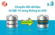 3TSoft - Hướng dẫn chuyển đổi dữ liệu QĐ 15 sang TT 200
